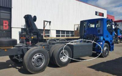 Le premier camion fonctionnant au biogaz arrive en carrossage