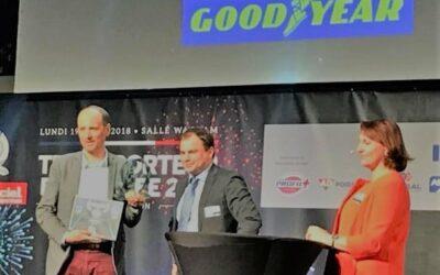 Noblet recoit la Palme du Transport 2018 lors de l'élection du transporteur de l'année