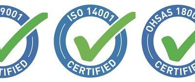 Noblet et Terrem sont certifiés ISO 9001, ISO 14 001 et OH SAS 18001