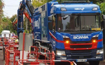 1ère mondiale : Noblet recoit sa première aspiratrice excavatrice fonctionnant au bioGNV