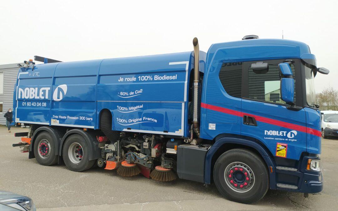 Noblet reçoit une balayeuse très haute pression fonctionnant au biodiesel