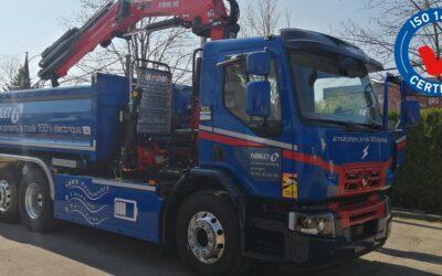 Le premier camion approche chantier 100% électrique arrive chez Noblet !